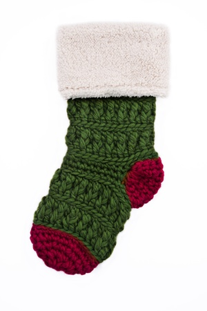 Knitted Christmas Stocking Stock Photo - 12035773