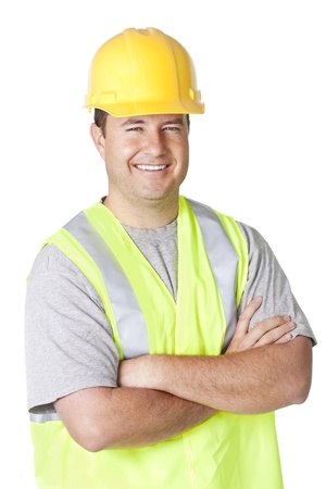 Smiling Handsome Construction Worker photo