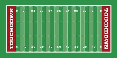 Terrain de football de vecteur avec des hachures et des lignes de triage Vecteurs