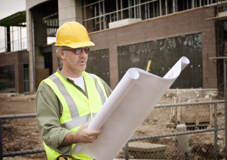the job site: Foreman costruzione sul sito Job
