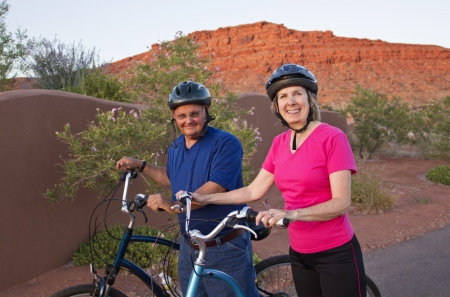Active Senior Couple Staying Healthy and fit photo