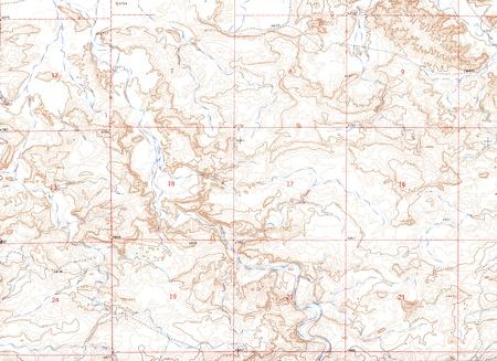 Authentieke Topografische Kaart Achtergrond Stockfoto