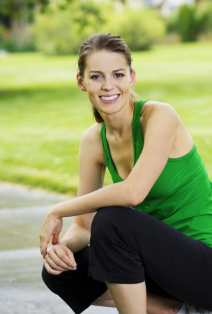 Healthy Fitness Woman Portrait Stock Photo - 14443144