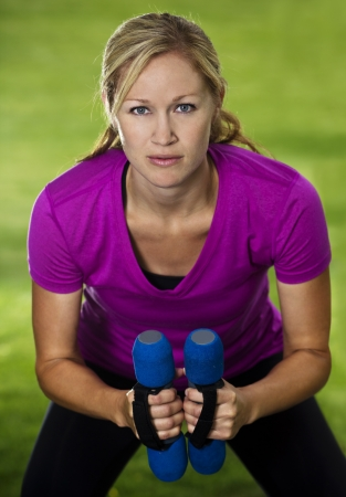 Fitness woman training close up Stock Photo - 14443136