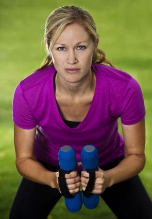 Fitness woman training close up Stock Photo - 14443136