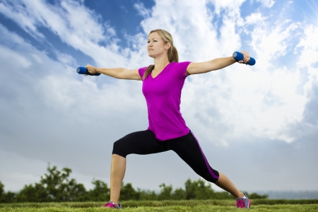 Woman doing Early Morning Fitness Training Stock Photo - 14443131