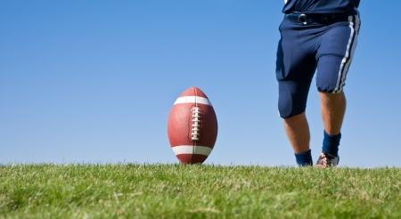 kickoff: Kicker Ready for Football Kickoff