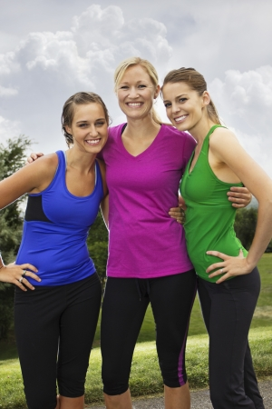 Smiling Healthy Fitness Women Stock Photo - 15517965