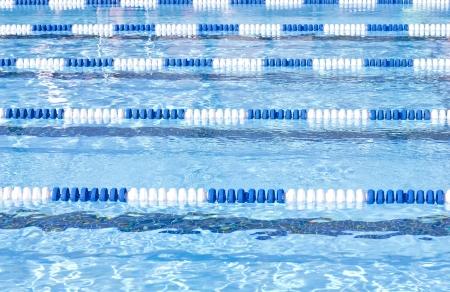 Zwembad Lanes Stockfoto