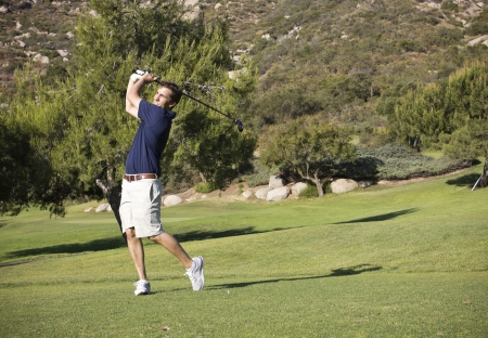 golf of california: Young Businessman on the Golf Course