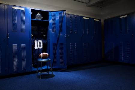 uniforme de futbol: Fútbol Locker Room Foto de archivo