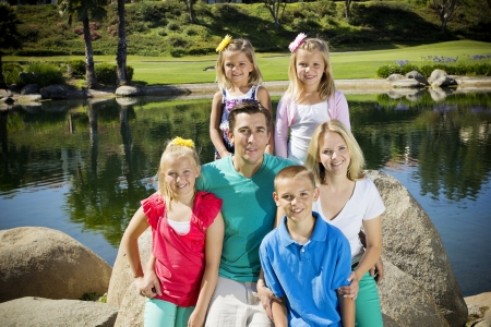 posterity: Beautiful Young Family Portrait Stock Photo