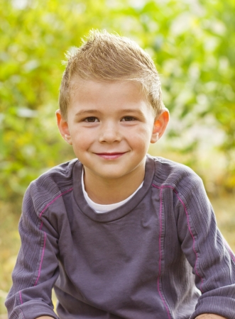 elementary age boy: Handsome Young Boy Portrait