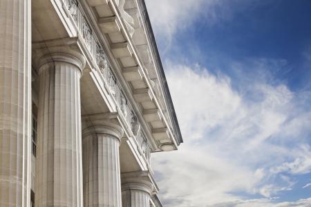 derecho romano: Edificio del palacio de justicia o de gobierno Foto de archivo