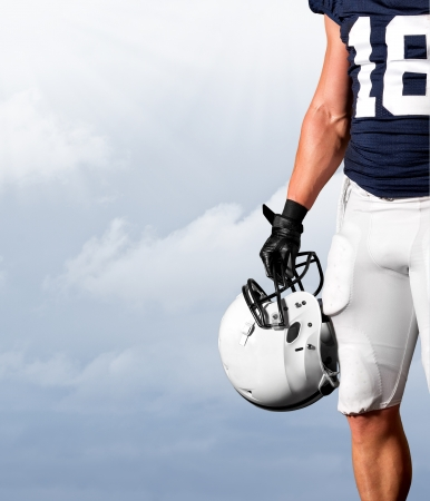 jerseys: American Football Player Standing Strong