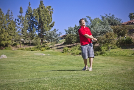 golf of california: Young Male Playing golf Stock Photo