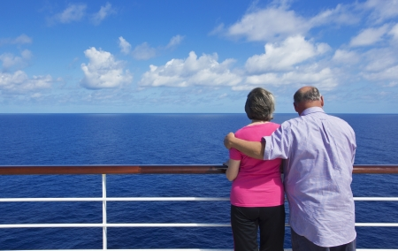 Senior Couple on a ocean cruise