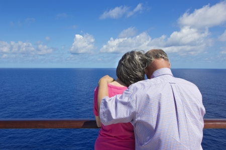 Senior Couple on a Cruise Vacation photo