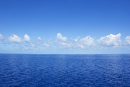 Calm Vibrant Blue Ocean Stock Photo