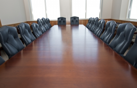 board room: Empty Board Room Stock Photo