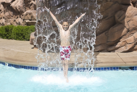 Splashing and Playing in the swimming pool photo