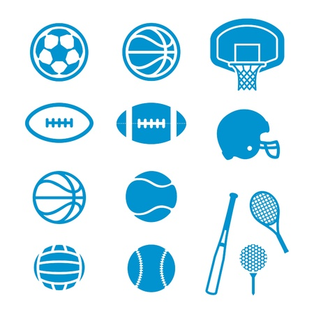 Vector Sports Equipment and Sports Ball icons
