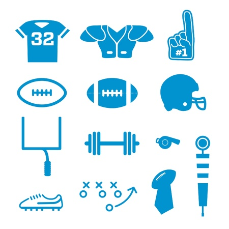 sports helmet: Vector American Football Icons