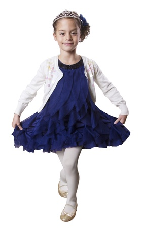 Little dancing Princess wearing Tiara Imagens