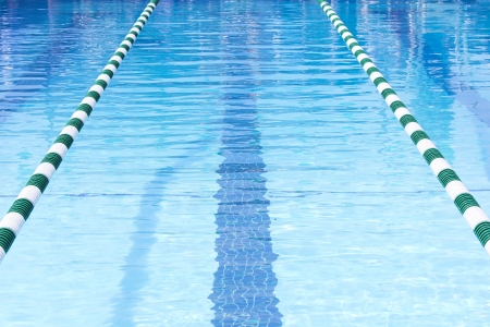indoors: Swimming Pool Swim Lanes Stock Photo