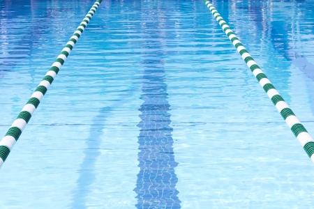 lane lines: Swimming Pool Swim Lanes Stock Photo
