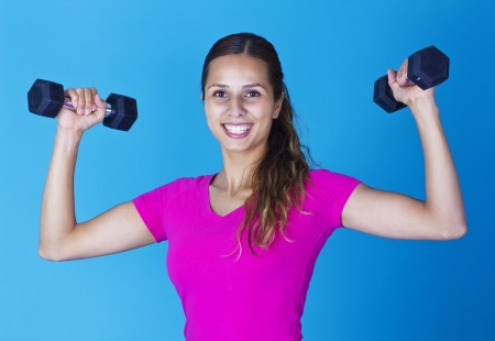 Smiling Hispanic Fitness Woman
