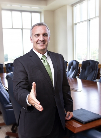 savvy: Businessman ready to shake hands Stock Photo