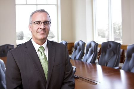 meet and greet: Confident Businessman portrait Stock Photo