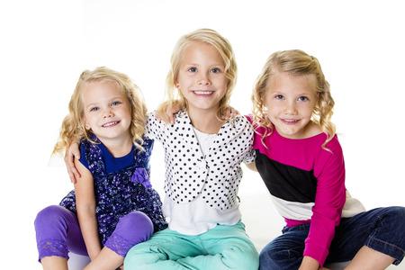 Three Beautiful Little Girls Portrait photo