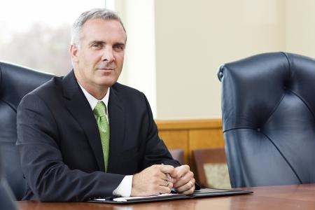business leader: Confident Senior Business leader