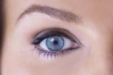 Close up of a beautiful Female Eye photo
