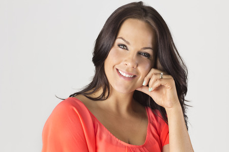 mature woman face: Beautiful Mature Latin Woman Stock Photo