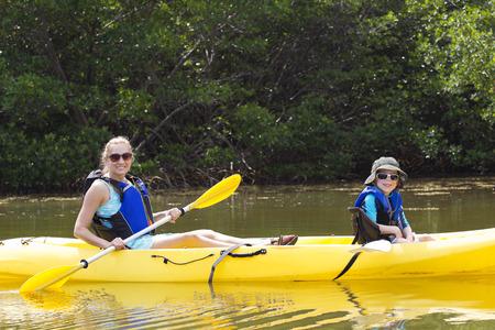 mangroves: Kayaking in the Mangroves in Florida Stock Photo