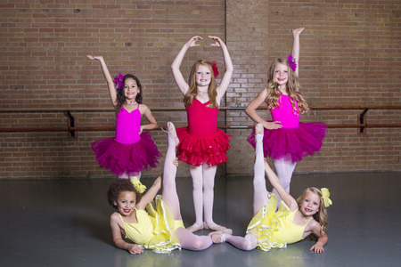 Ballerinas at a dance studio (Group photo)