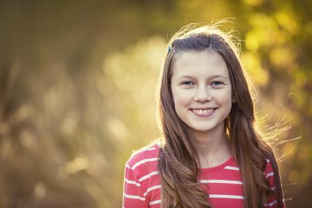 Beautiful Smiling Teen Girl Portrait outdoors