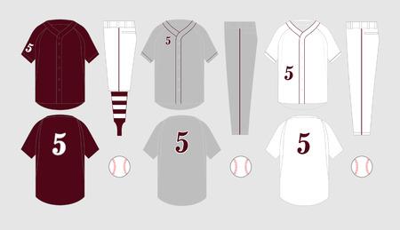 Baseball jersey vector templates various uniform styles Ilustracja