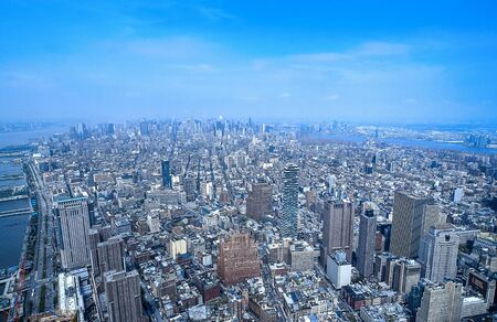 Aerial photo of Manhattan in New York City during the day