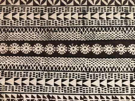 Authentic traditional Pacific Islands tapa cloth pattern. Polynesian tribal pattern.