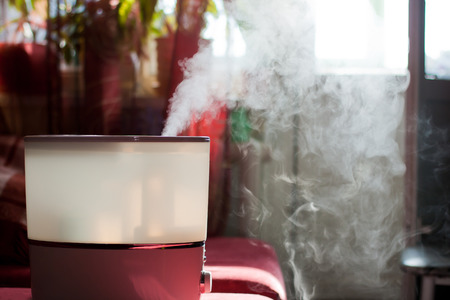 humidifier: Humidifier spreading steam into the living room