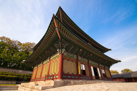 wide angle lens: Changdeokgung Palace in Seoul Korea. Photo taken with wide angle lens Editorial