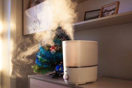加湿器リビング ルームに蒸気を広げる