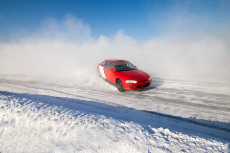 rival rivals rivalry season: Auto ice racing on the frozen lake