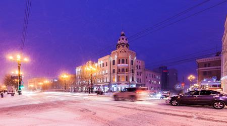 Winter view of Khabarovsk Stock Photo