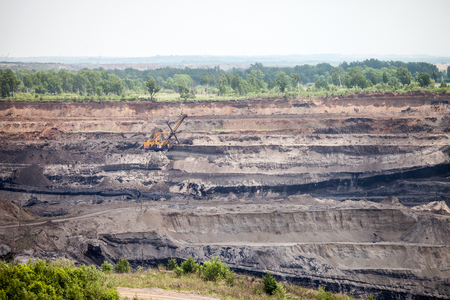 Open coal mine in Luchegorsk, Russia Standard-Bild - 103580378