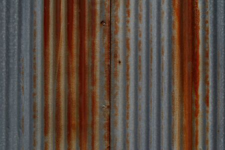 Galvanized surface that is rusty red Stock Photo
